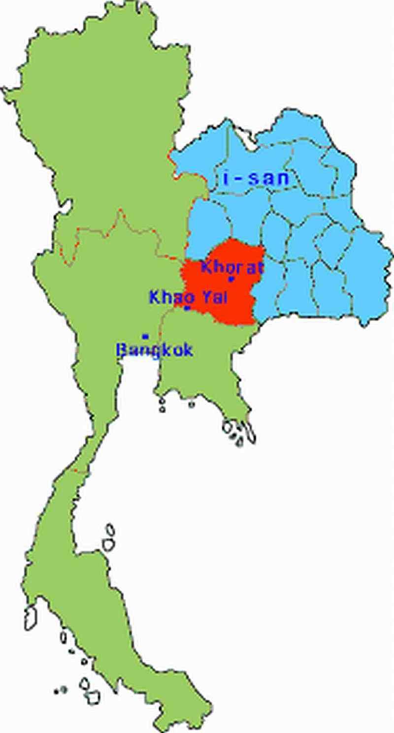 detailed map of korat thailand - HD800×1489